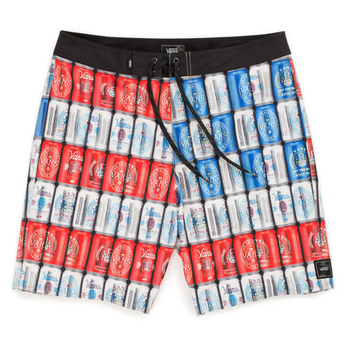 NWT VANS Off The Wall AMERI CAN BOARDSHORTS 19  Red White bluee SWIM TRUNK   MENS