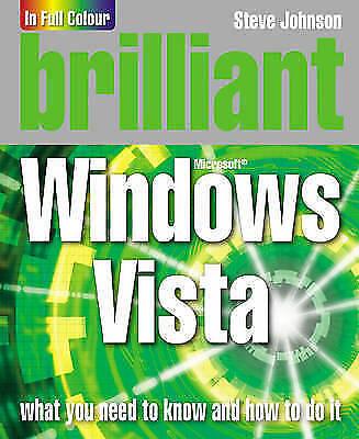 """AS NEW"" Johnson, Mr Steve, Brilliant Windows Vista, Book"