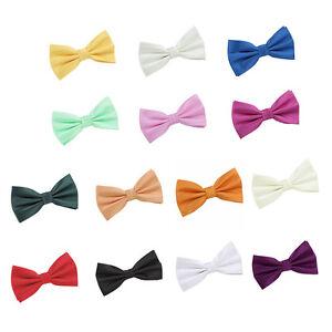 Men-039-s-Solid-Check-Pre-Tied-Bow-Tie-Evening-Special-Occasion-Wedding-Groom