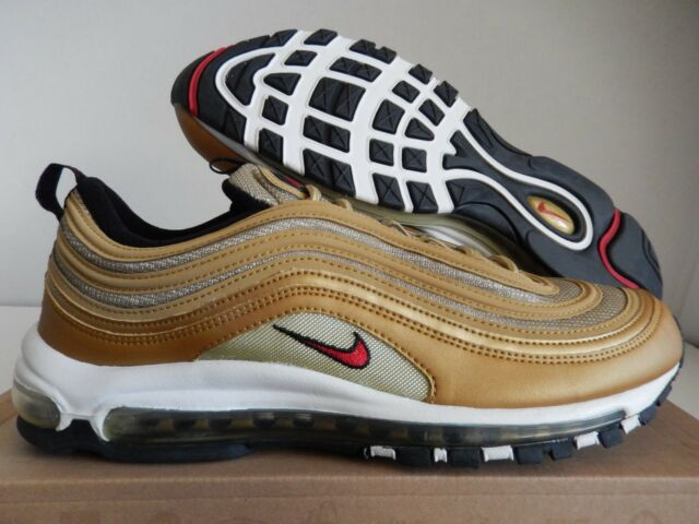 Nike Air Max 97 Metallic Gold-red-black Sz 13
