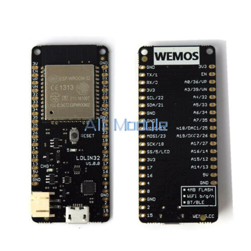 4 MB Flash WEMOS Lolin32 V1.0.0 WIFI /& Bluetooth Card Based ESP-WROOM-32 ESP-32