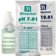 3x20ml, Storage + pH 7 + 10 Buffer/Calibration/Solution/Probe/Sensor/Meter