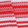 Folk Ukrainian Tablecloth ornament Wedding decor White Red  SALE