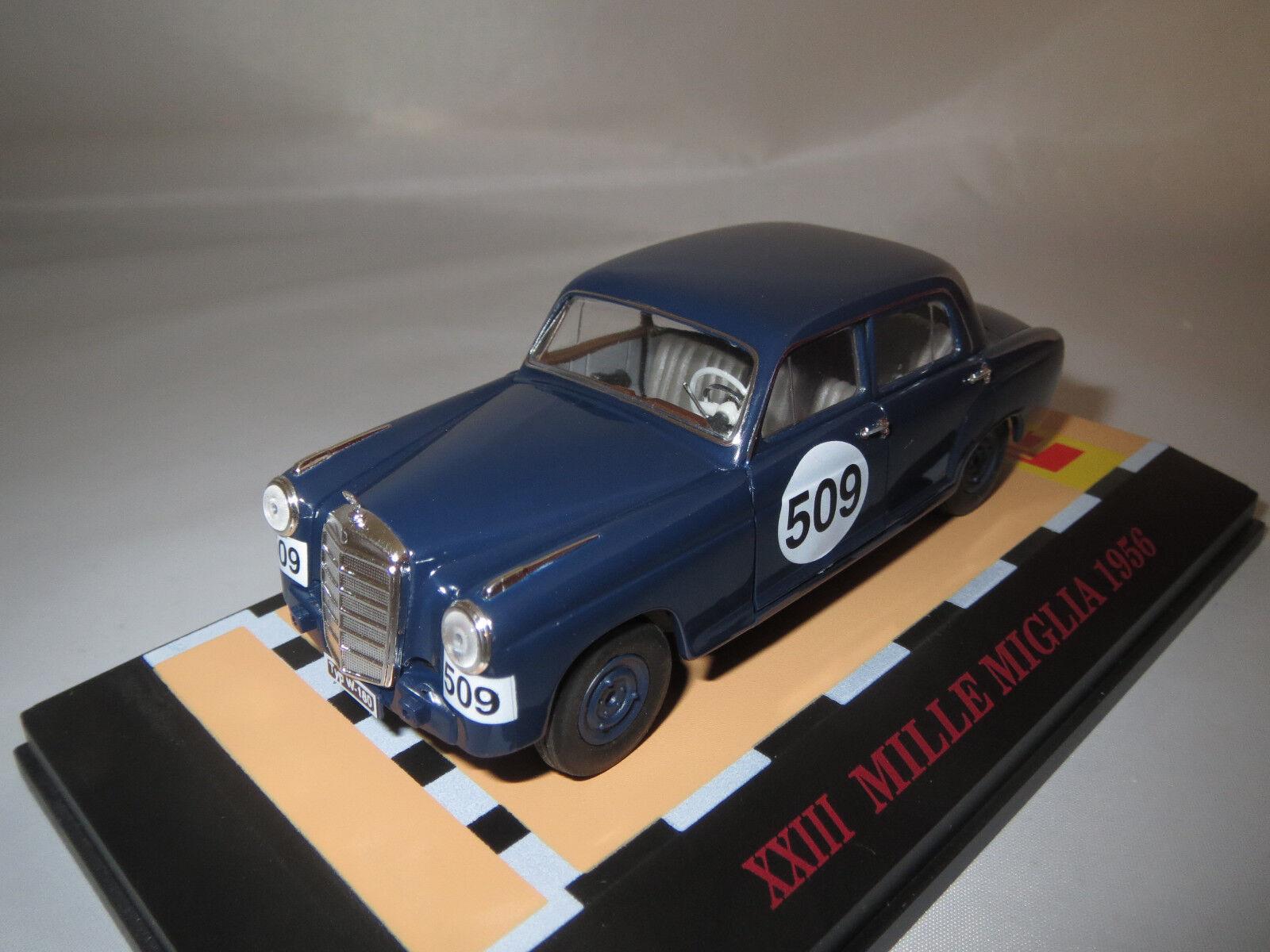 Faller mercedes-benz 220s (Ponton) Mille Miglia  1956  (blu) 1 43 original