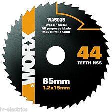 WORX WA5035 WORXSAW 85 mm 44T HSS Blade Cutting Disc All Purpose Wood Metal