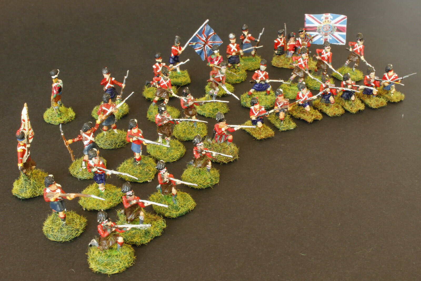 1 72 scale nicely 35 Painted Highland Infantry on bases