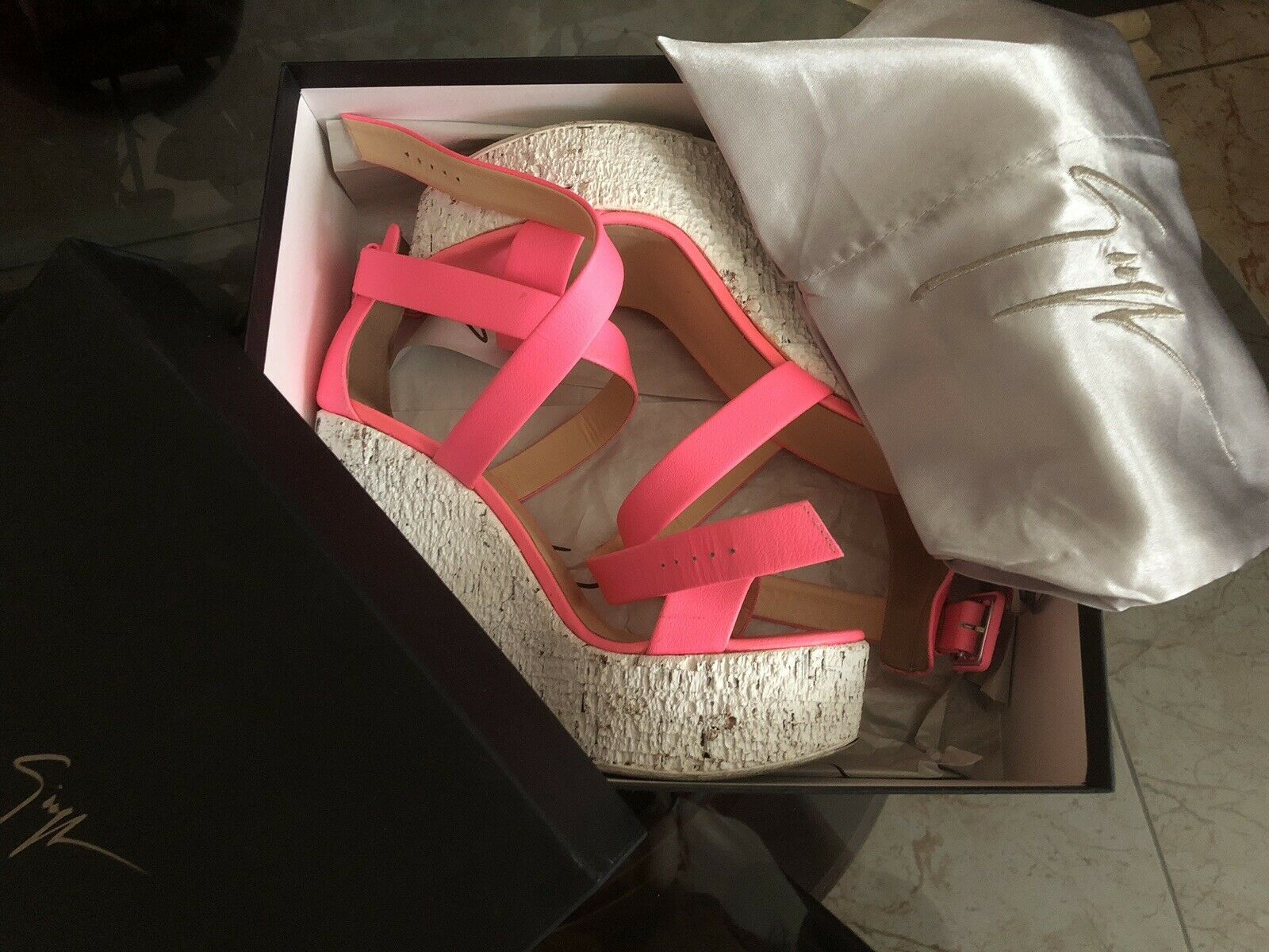 Giuseppe Zanotti Design Design Design Cuña Sandalias-rosado 38,5  centro comercial de moda