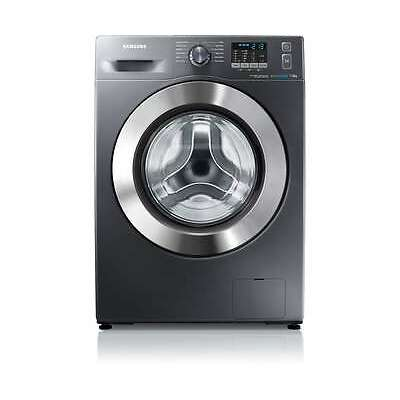 Samsung WF70F5E2W4X Ecobubble A+++ 7Kg 1400 Spin Washing Machine Inox / Chrome