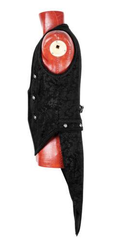 Gilet veste gothique baroque dandy jacquard transformable broderie mode Punkrave