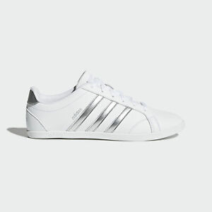 Details about Adidas NEO CONEO QT [DB0135] Women Casual Shoes White/Silver