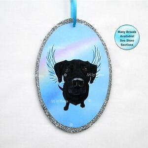 image is loading black lab angel ornament labrador retriever dog memorial - Black Lab Christmas Ornament