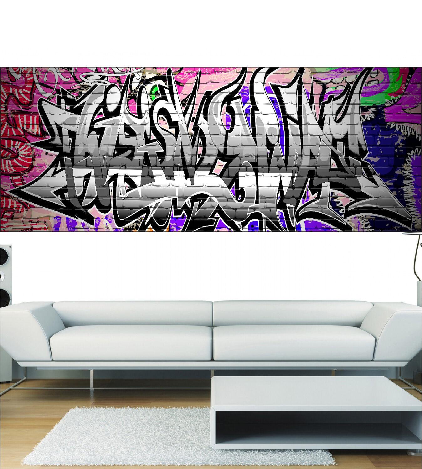 Aufkleber Panorama Deko Graffiti Ref 3675 (13 Größe)