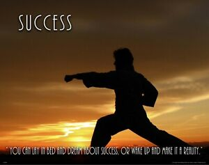 Details About Martial Arts Motivational Poster Art Print Karate Judo Class Success Mvp682