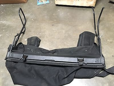 2010-2016 Jeep Wrangler 2 Door Soft Top Canvas Roof and Main Frame Only USED