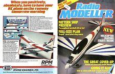 RADIO MODELLER MAGAZINE 1986 MAY MIKE FREEMAN'S SEQUEL FREE PLAN, SOLOIST