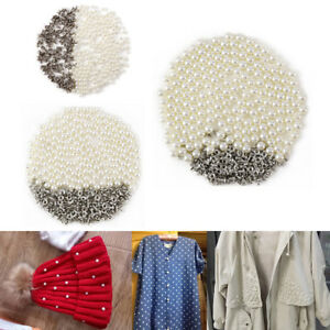 DIY Pearl Rivets Button for Cloth Pant Hat Bag Crafts Decor Garment Scrapbooking
