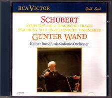Günter WAND: SCHUBERT Symphony No.4 Tragic 8 Unfinished CD Gunter Sinfonien WDR
