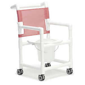 Shower Commode Chair Standard With Plastic Seat 1 Ea Ebay