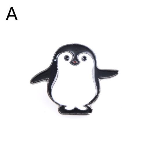 Caricatura adorable Esmalte Pin Pingüino Panda Animal Chaqueta Mochila Broches Insignia dsu
