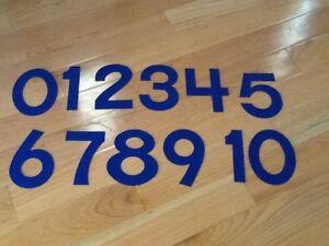 Details about Felt Numbers Teacher Math Center Resource Homeschool ABeka K4  K5 Counting Blue