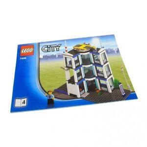 1x-Lego-Bauanleitung-A4-Heft-4-Town-City-Police-Station-7498