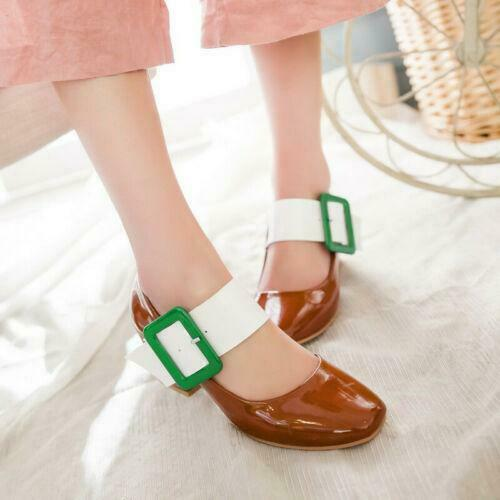 Details about  /Elegant Women Chunky Block Heel Mary Jane Shoes Buckle Ankle Strap Dress Pumps