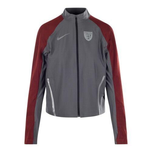 Nike Lab Gyakusou Stadium Women/'s Jacket Tech Knit Silver Red 856252 006 Nikelab