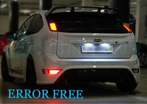 Image Is Loading Ford Focus Xenon Ice White Led Number Plate