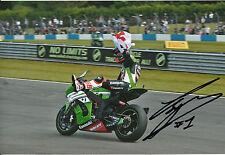 Tom Sykes Hand Signed Kawasaki Racing 2013 12x8 Photo World Champion WSBK.