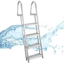 Pontoon Boat Ladder 4 Step Removable Boarding Aluminum Heavy Duty Al-A4