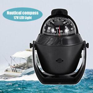 LED Light Sea Marine Electronic Digital Compass for Car Boat Caravan Truck