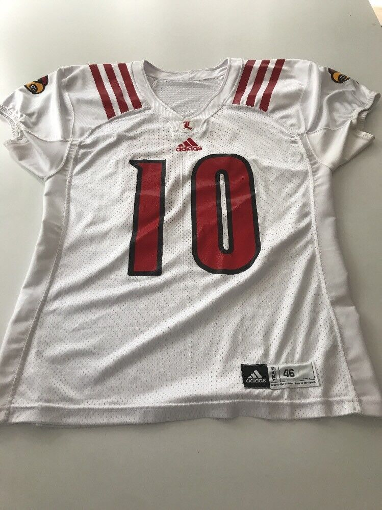 info for 578b2 e8495 Game Worn Used Louisville Cardinals UL Football Jersey Adidas Adidas Adidas  Size 46 bbac8b