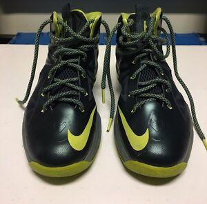 Nike-Lebron-10-GS-Size-6Y-Seaweed-034-Basketball-Shoes