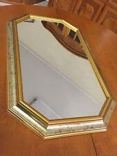 8 ECKIGER WANDSPIEGEL MIT GOLDDEKOR RAHMEN Antik stil gold 60x37cm spiegel