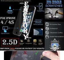 2.5D 9H Tempered Glass Screen Protector iphone 4 4S 4G Vitre trempé protecteur
