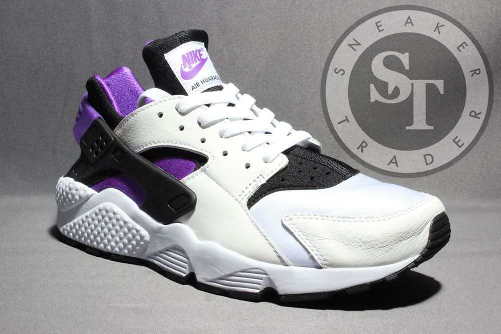 NIKE AIR HUARACHE RUN 91' QS AH8049-001 BLACK PURPLE WHITE DS SIZE: 8