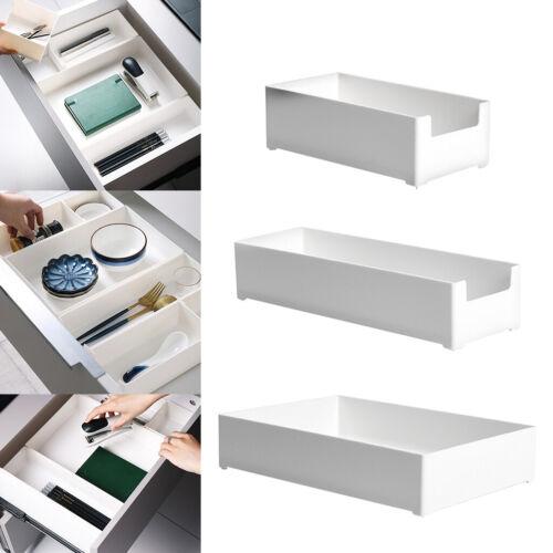 Plastic Drawer Storage Tray Organizer White for Vanity Gadgets Unbreakable