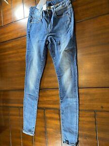 G Star Raw 3301 D Medio Super Skinny Jeans Para Mujer Medio Envejecido Nuevo Precio De Venta Sugerido Por El Fabricante 170 Ebay