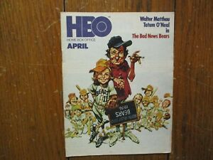 April-1978 HBO Home Box Office TV Mag(THE BAD NEWS BEARS ...