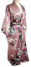 Kimono Peacock PREMIUM sexy dressing gown Peacock Lingerie robe Lilac