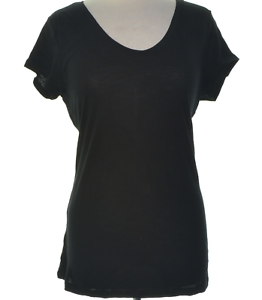 Style-amp-co-NWT-56-1X-Plus-Black-Stretch-Solid-Basic-Tee-Shirt-Top-Pull-On-04118