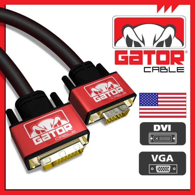 DVI-I (24+5) Dual Link Male to VGA Cable Cord Male Video Monitor Adapter PC 6FT