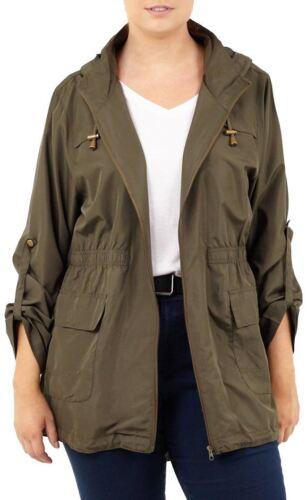 New Womens Fishtail Polyester Mac Raincoats Hooded Parka Jacket 18-24