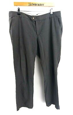 Fat Face Womens Trousers 14 W38 L29 Grey Check Cotton Reisen