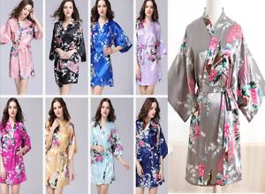f3b8e6af0f Hot Women robe Silk Satin Robes Bridal Wedding Bridesmaid Bride Gown ...