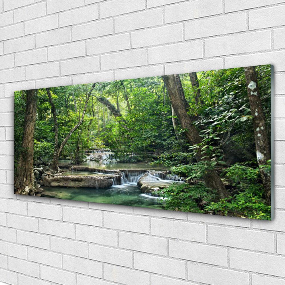 Tableau murale Impression sous verre 125x50 Nature Forêt