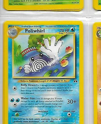 Poliwhirl 44//75 1ST EDITION Neo Discovery Set Pokemon Card NEAR MINT