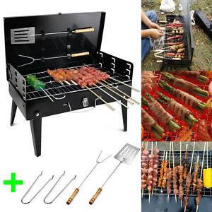 BBQ-Barbecue-Grill-Folding-Portable-Charcoal-Garden-Travel-Outdoor-Camping