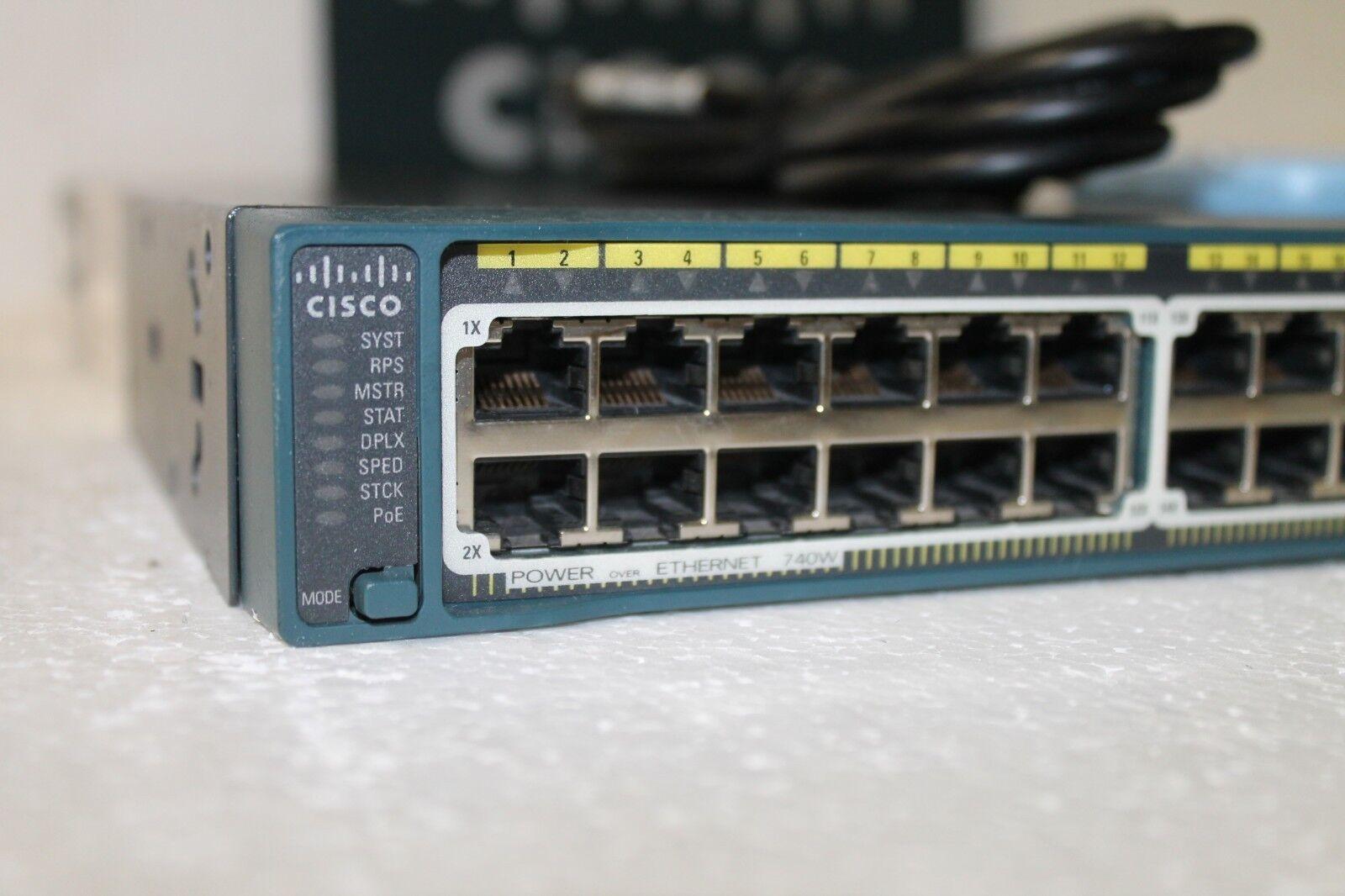 Cisco WS-C2960S-48FPS-L Catalyst 2960-S 48-Port PoE+ Network Switch