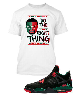 buy popular ca0ce 3c01a Spike Lee Tee shirt to Match Jordan 4 Shoe Do the Right Thing Men Big &  Tall | eBay